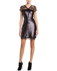 Spotted this BCBGMAXAZRIA Nel Black Combo Lace Sequin Dress on Rue La La. Shop (quickly!).
