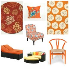 Tired of beach house blue? a citrus splash for you! At The Beach Look http://thebeachlook.tictail.com