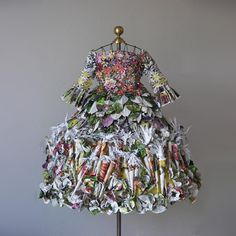 Paper Seed Catalogue Dress