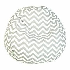 """Patterned indoor/outdoor beanbag with a recycled fill. Made in the USA. Dimensions: 22"""" H x 28"""" Diameter"""