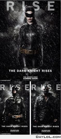 New Dark Knight Rises posters (with Catwoman)