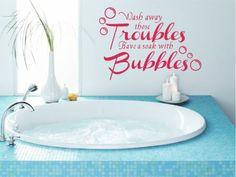 sticker da muro Adesivi Decorativi?Decalcomanie ragazze rosa principessa WC parete bagno bagno lavare via bu difficoltš€Adesivi Parete