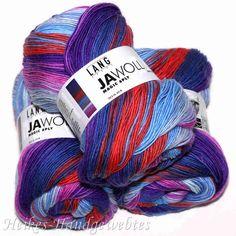 Jawoll Magic 6-fach Blau-Pink-Orange v. Lang Yarns - Heikes Handgewebtes: Traumhafte Wolle für Socken und noch viel mehr - dreamlike wool for socks and much more