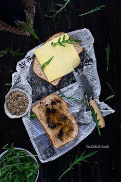 Sandwich gourmet trufa, miel