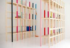 The Latten Shelving Unit Employs One Type of Piece for Another Purpose #diy #furniture trendhunter.com