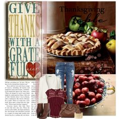 Give Thanks with a Grateful Heart by madamedeveria on Polyvore featuring moda, Lands' End, Hollister Co., Tommy Hilfiger, Frye, Ralph Lauren, Charlotte Russe and Lana