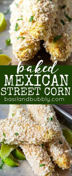Mexican Street Corn recipe that tastes just like the deep fried version from Taco Boy in Charleston, SC, except it's baked! Perfect for summer parties or a picnic side dish.