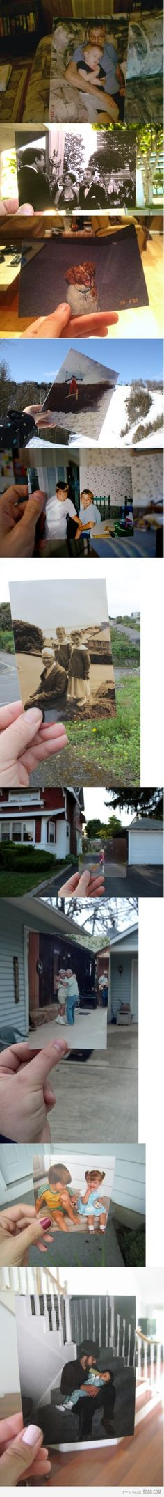 Dear Photograph, by Taylor Jones. Id love to do this with some old photos