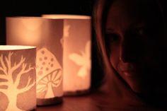 Luminaries - Paper cut lanterns  kirstenrickert.com