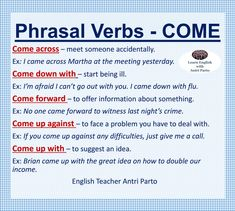 Phrasal Verbs - Come #LearnEnglish @AntriParto