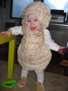 Peanut-Costume... the cutest peanut costume I have found thus far. May have to make something similar for my peanut!