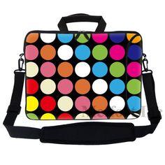 """15.6/"""" Laptop Computer Sleeve Case Bag w Hidden Handle /& Shoulder Strap 2735"""