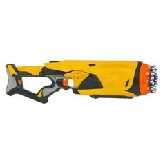 Nerf Dart Tag Swarmfire: Features a rotating barrel for a fully automatic 20-dart attack! Fires up to 35'. $24.99 #Nerf_Dart_Tag_Swarmfire #Toys #Blaster