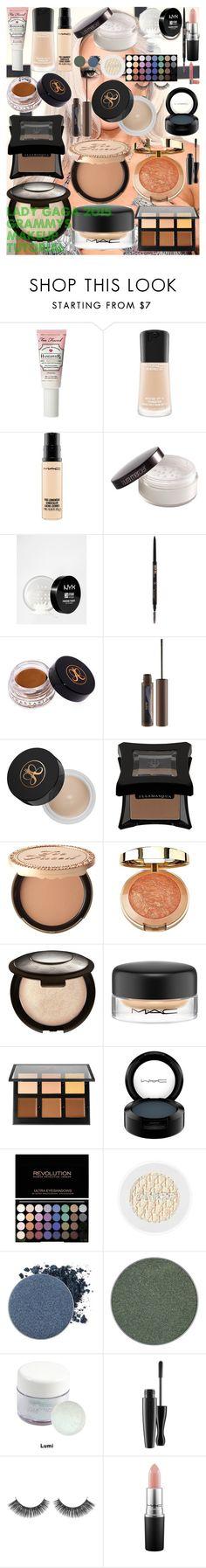 """Lady Gaga 2015 Grammys Makeup Tutorial"" by oroartye-1 on Polyvore featuring beauty, Too Faced Cosmetics, MAC Cosmetics, Laura Mercier, NYX, Anastasia Beverly Hills, tarte, Illamasqua, Milani and Becca"