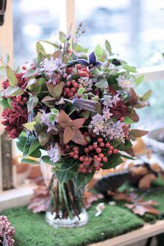 紅葉ヒペリカム/ブーケ/花束/花どうらく/花屋/http://www.hanadouraku.com/bouquet
