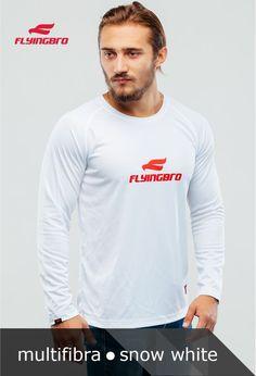 фото спортивной белой футболки Flyingbro
