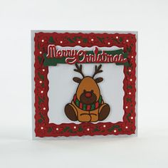 Good morning crafters I hope you are all feeling festive with the start of this year's 'Christmas in June' on Create and Craft. This year. Tonic Christmas Cards, Christmas Cards To Make, Christmas Deer, Xmas Cards, All Things Christmas, Tonic Cards, Studio Cards, Snowflake Cards, Create And Craft