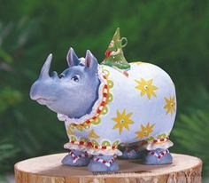 Mini Roberta Rhino Ornament