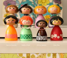 Love!  Avon Small World Perfume bottles. I'm sure the perfume is awful but the bottles are so cute.