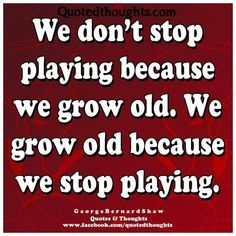 on growing old