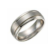 Titanium Ring - Grooved Line
