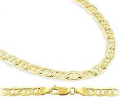 Solid 14k Yellow Gold Bracelet Mariner Link 43mm 75 inches * You can get additional details at the image link.