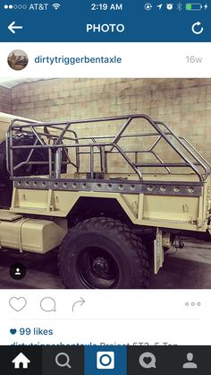 Custom truck bed cage tactical