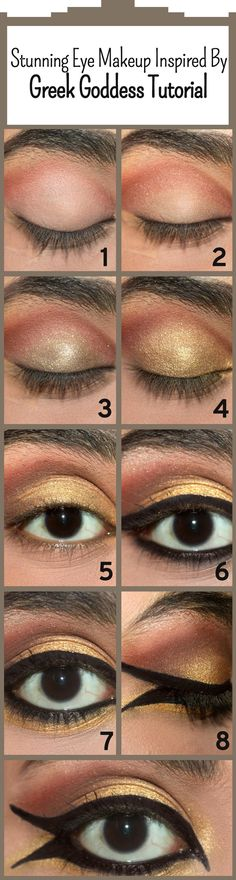 How To Do Smokey Eye Makeup? - Top 10 Tutorial Pictures For 2019 Stunning Eye Makeup Inspired By Greek Goddess – Tutorial With Detailed Steps And Pictures Greek Makeup, Greek Goddess Makeup, Greek Goddess Costume, Smokey Eye Makeup Look, Smokey Eye Makeup Tutorial, Make Up Tutorials, Maquillaje Halloween, Halloween Makeup, Halloween Costumes
