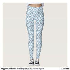 Argyle/Diamond Blue Leggings