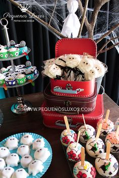 Awesome treats at a Haunted House Halloween Party!  See more party ideas at CatchMyParty.com!