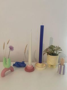 Diy Air Dry Clay, Diy Clay, Clay Crafts, Air Drying Clay, Clay Candle Holders, Candle Sticks, Keramik Design, Clay Art Projects, Clay Vase
