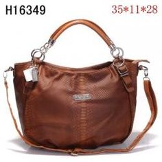 Coach Madison Leather Abigail Hobo Bag H16349 Brown