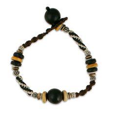 Tribal Black Bracelet Black Bracelets, Beads, Men, Collections, Jewelry, Products, Fashion, Beading, Jewlery