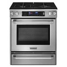 """Kitchen-Aid 30"""" Slide-In Gas Range - Stainless Steel"""