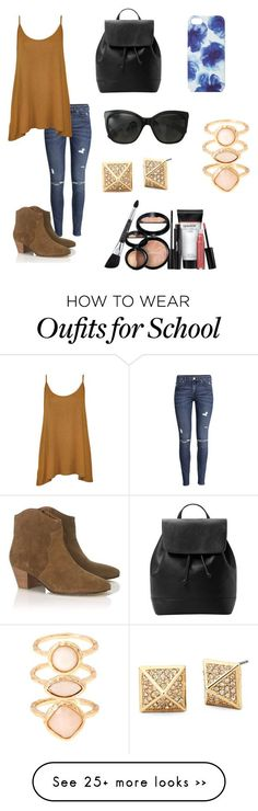 School outfit by hellofashion22 on Polyvore featuring HM, WearAll, Isabel Marant, MANGO, Chanel, Jigsaw, Monsoon and Laura Geller Clothing, Shoes & Jewelry - Women - nike women's shoes - http://amzn.to/2kkN5IR