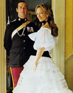 A young Prince Michael and Princess Michael of Kent