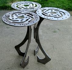 Harley Part End Table by LaurieShaferPartArt