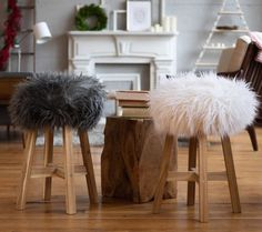 Faux fur for fall  DIY cover Create Home Storage