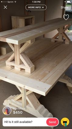 farmhouse furniture Ideas Farmhouse Table Dimensions Woodworking Plans For 2019 Mission Furniture, Wood Pallet Furniture, Woodworking Furniture, Furniture Plans, Rustic Furniture, Diy Furniture, Woodworking Projects, Woodworking Vise, Woodworking Magazine