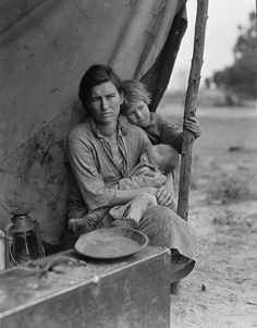 Photographer Dorothea Lange took photos in the 30s expressing the struggles and suffering during the Great Depression