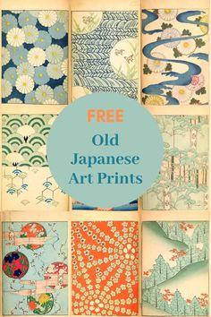 Free Old Japanese Art Prints From The Shin-Bijutsukai - Picture Box Blue Free Art Prints, Vintage Art Prints, Vintage Art Posters, Prints And Patterns, Free Artwork, Graphic Art Prints, Collage Vintage, Traditional Japanese Art, Japanese Design