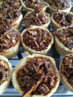 Mini pecan pies. I love making mini pies and cookies. They're great for tea time.
