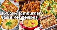 Hamburger Casserole Recipes - Quick And Easy Meals! - - Hamburger Casserole Recipes - Quick And Easy Meals! Easy Hamburger Casserole, Easy Casserole Recipes, Cheap Easy Meals, Quick Meals, Quick Recipes, Weeknight Meals, Steak Fajitas, Sidewalk Chalk Recipe, 2 Ingredient Recipes