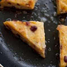 Cranberry Thyme Polenta Wedges Recipe « Go Bold with Butter