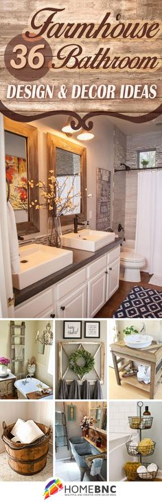 36 beautiful farmhouse bathroom design and decor ideas you will go crazy for - Home Rustic Decor