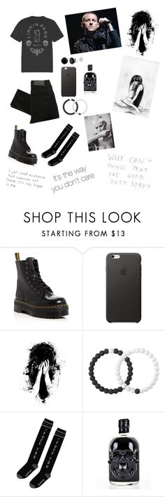 """""""Chester Bennington; you will be missed"""" by aesthetically-cynical ❤ liked on Polyvore featuring Dr. Martens, WALL and Lokai"""