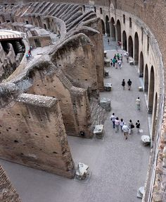 Rome. Inside the Colosseum.