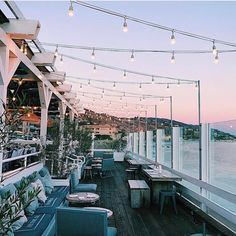 Sunsets and fairy lights, what could be more perfect?