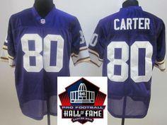 2012 Hall of Fame Minnesota Vikings  80 Cris Carter Purple Throwback Jerseys  Cris Carter 178c49a54