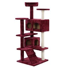 New Cat Tree Tower Condo Furniture Scratch Post Kitty Pet House Play Wine by hello world1 >>> To view further for this item, visit the image link.